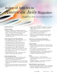 Miller Bynum Design American Jails March April 2017 By Americanjails Issuu
