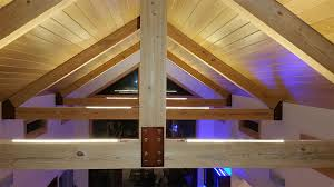 pitched ceiling lighting. Ultra Warm White LED Strips Light Up The Vaulted Ceilings Of This Custom Home Pitched Ceiling Lighting