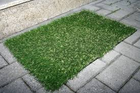 artificial green grass carpet for indoor and white area rug