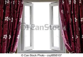 open window with curtains. Perfect Curtains Open Window And Curtains  Csp8858107 To Window With Curtains