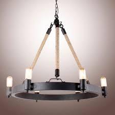 rancheria falls 6 light candle chandelier antique farmhouse