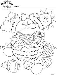 Free Printable Preschool Easter Coloring Pages Top Free Printable