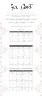 Size Chart Ooh La Luxe