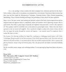 Recommendation Letter Example Clamper Pod Designer