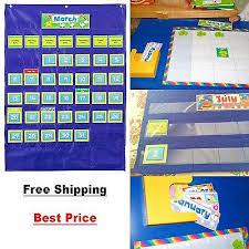 Classroom Calendar Pocket Chart Custom Calendar Pocket Chart Teacher Classroom English
