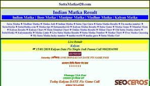 Sattamatka420 Com Review Seo And Social Media Analysis