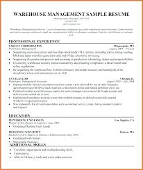 Warehouse Supervisor Resume Awesome Sample Resume For Supervisor In Warehouse Fruityidea Resume