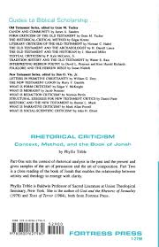 rhetorical criticism guides to biblical scholarship phyllis rhetorical criticism guides to biblical scholarship phyllis trible 9780800627980 com books