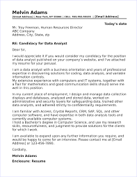 Do You Need An Address On A Cover Letter Data Analyst Cover Letter Sample