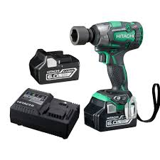 hitachi impact drill. hitachi 18v brushless impact wrench kit wr18dbdl2(hx) drill