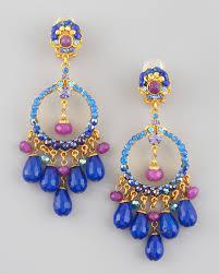 jose maria barrera multicolor filigree chandelier earrings lyst colored light bulbs gypsy color arm black multi coloured