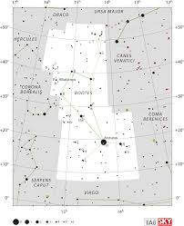 Hd Bootes Constellation Star Chart Transparent Png Image