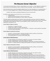 Resume Objective Examples For Any Job 86 Admirable Figure Of Resume Objective Examples Best Of