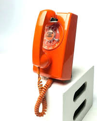 retro wall phone retro wall phone orange rotary wall phone retro corded wall phone with caller