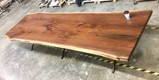 raw edge dining table. Bookmatched.walnut.diningtable.jpg Raw Edge Dining Table A