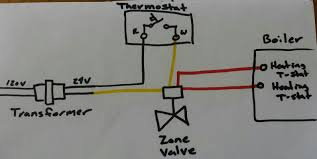 need help completing zone thermostat and low pressure wiring example zone valve wiring