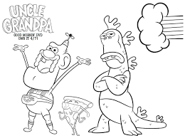 Small Picture Cartoon Network Uncle Grandpa Free Coloring Page Mama Likes This