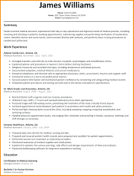 Resume: Medical Assistant Duties For Resume