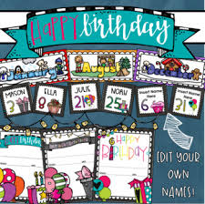 Happy Birthday Chart Decoration Happy Birthday Chart Decoration Certificates Bulletin Board Banner