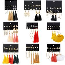 <b>2019 CUTEECO New Fashion</b> Geometric Hoop Earrings For ...