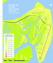 Tybee Island Tide Chart 2 Elevation Map For Tybee Island Georgia And Vicinity
