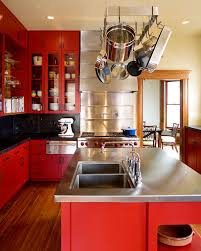 Unique Modern Kitchen Color Schemes Red Scheme To Decorating