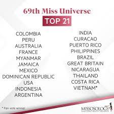 69th Miss Universe Top 21 #MissUniverse ...