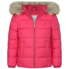 Designer Coats And Jackets Tommy Hilfiger Girls Fuchsia Down Jacket Girls Designer