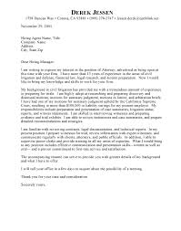 Sample Cover Letter Attorney Law Firm Cover Letter Best Solutions Of