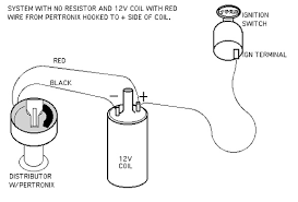 vintage mustang faq how to install a pertronix ignitor system no resistor and 12v coil red wire from pertronix hooked to side of coil