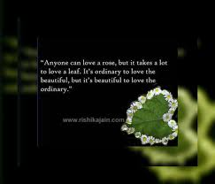 Beautiful Thought For The DayAnyone Can Love A Rose Inspirational Custom Beautiful Thoughts