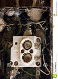 wiring problem old fuse box spider webs royalty stock wiring problem old fuse box spider webs