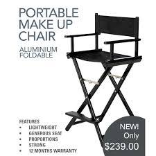 aqua aluminium foldable makeup chair