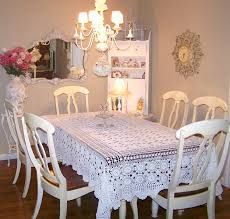 Dining Room:A Stunning Shabby Chic Dining Table 6 Chairs In A Simple Room  With