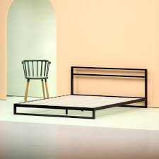 bed frame no headboard.  Headboard Steel Low Profile Platform Bed Frame With Headboard  Angle Shot For No T