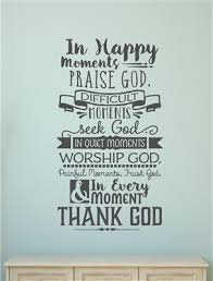 in happy moments praise religious verse vinyl decal wall stickers letters words home decor gift