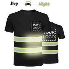 Hi Vis T Shirt Design High Visibility Reflective Safety Shirts Custom Your Logo Hi Vis T Shirts Neon Quick Dry Outdoor Work Shirts Xl Black Style 2