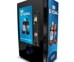 Touch Screen Vending Machine Awesome Pepsi Unveils A Social Vending Machine Gift Drinks To Friends Or