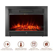 ikayaa 28 7 21 embedded electric fireplace heater led with remote