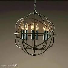 chandeliers restoration hardware orb chandelier crystal home design wood iron 6 light round 60