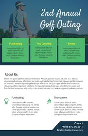 Annual Golf Outing Flyer Template