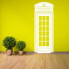 Cabina telefonica londra uk 57cm x 148cm parete in vinile arte