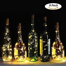 wine bottle lighting. Wine Bottle Cork Lights, 6 Pack Mini LED Shaped Fairy Lights Battery Lighting