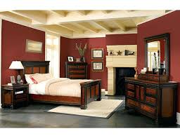 Paint Colors For Bedroom With Dark Furniture Dark Maroon Wall Paint In A  Bedroom With Black