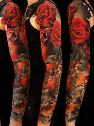 colorful tattoo sleeve designs. Perfect Designs Full Sleeve Tattoo To Colorful Designs T