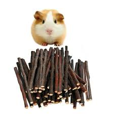 pet apple tree branches wood chew sticks rabbit hamster guinea pig toys snack for