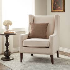 amazing off white whitmore lindy wingback chair with arm fit for living room
