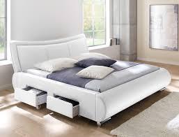 Polsterbett Lando Bett 180x200 Cm Weiß 4 Schubkasten Doppelbett