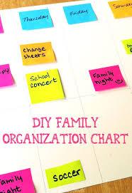 Diy Family Organization Chart We Know Stuff