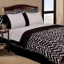 vikingwaterford com page 125 retro zigzag dorm teen 6pc black regarding and white chevron comforter design